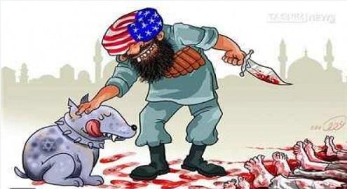 Karikatür – Amerikan ürünü olan tekfircilerin en sadık dostları siyonistlerdir
