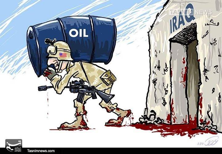 Karikatür – İşgalci ABD, Irak halkını katledip petrolünü çaldı