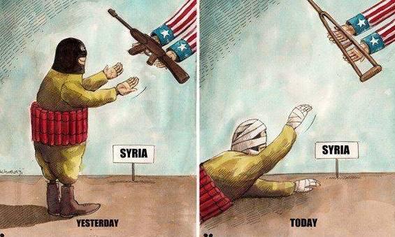 Karikatür – Suriye'deki teröristler yolun sonuna geldi