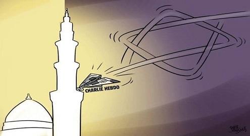 Karikatür – İslamı karalama kampanyaları siyonizm'in işidir