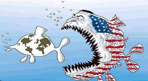 Karikatür – ABD, dünya halklarının en büyük düşmanıdır