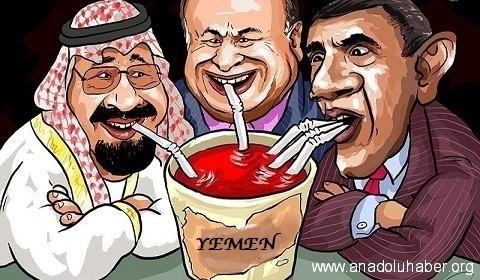 Karikatür – Yemen halkının kanıyla beslenenler…