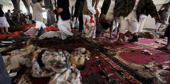 Tekfirci teröristler yine camiye saldırdı! 14 ölü