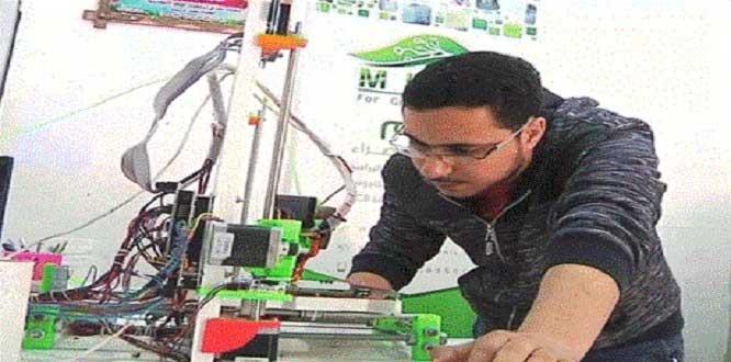 Gazzeli mühendis üç boyutlu yazıcı üretti