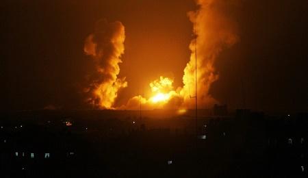 İşgalci ve katil israil, Gazze'ye saldırdı