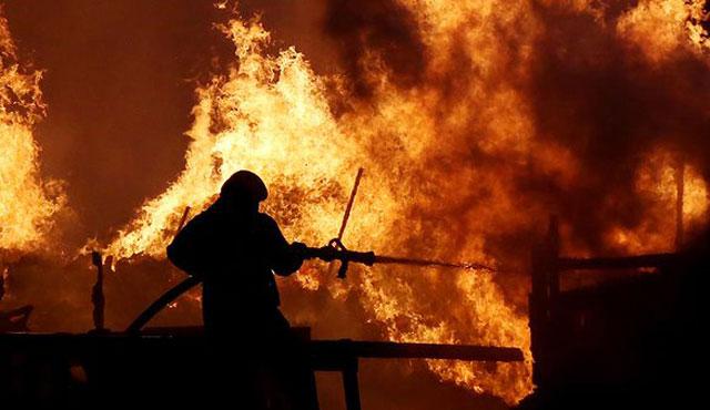 Ukrayna'nın Balakleya şehrinde cephanelikte büyük yangın çıktı