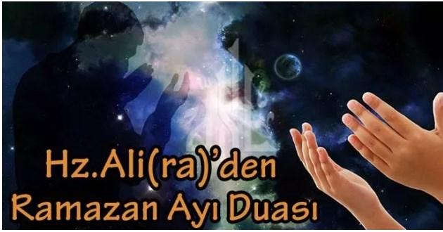 Hz.Ali (ra)'dan Ramazan Ayı Duası