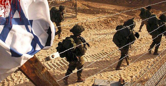 Gasıp ve habis İsrail, Gazze'ye Saldırdı