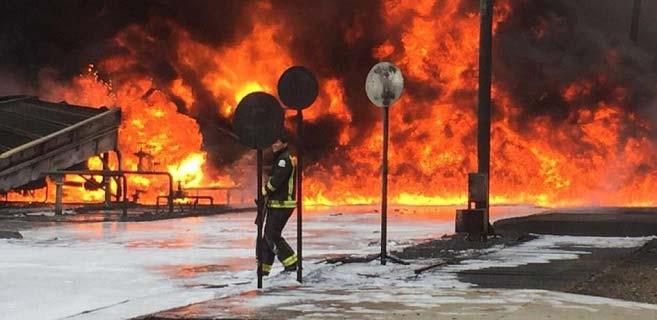 Suudi petrol şirketi Aramco'da yangın: 2 ölü, 16 yaralı