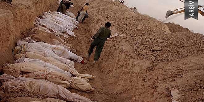 60 cesedin içinde olduğu toplu mezar bulundu