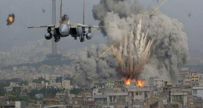 Büyük Şeytan Amerika Suriye'de camiden sonra okulu bombaladı, çok sayıda ölü var