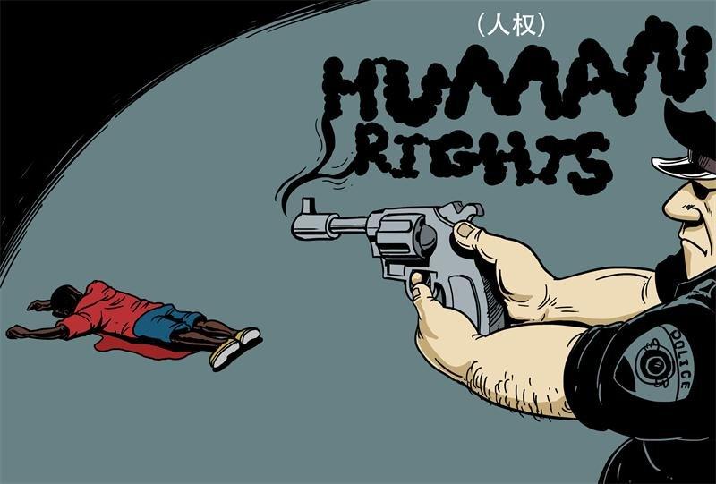 amerika-polis-siddet-karikatur