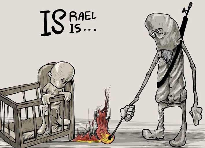 Karikatür – İsrail ve IŞİD arasındaki benzerlik