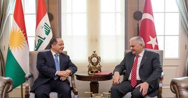 Başbakan Yıldırım Barzani ile görüştü,  Peşmergeler için başsağlı diledi!