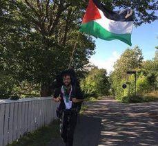 Yahudi aktivist, israilin yaptığı zulme dikkat çekmek için İsveç'ten Filistin'e yürüyor