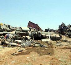 Tren kazasının boyutu, havanın aydınlanmasıyla ortaya çıktı