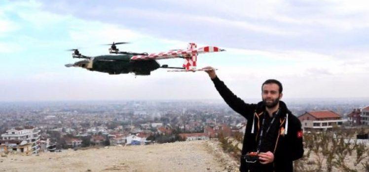 Üniversiteli öğrenciler dikine iniş- kalkış yapabilen insansız hava aracı yaptı