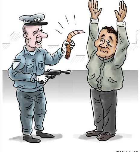 amerikan-polis-karikatur